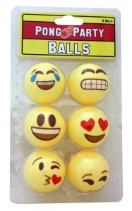 Pelotas Smiley para Beer Pong, 6 pzas