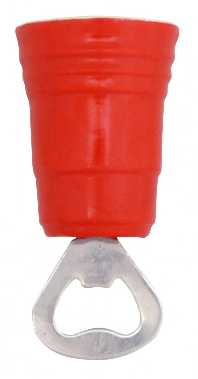 Destapador, diseño vaso rojo