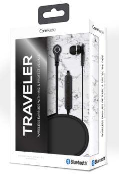 Audífonos inalámbricos con mic y case, negro