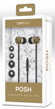 Audífonos con micrófono, dorado