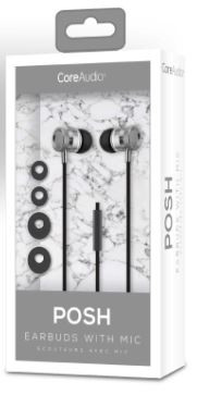 Audífonos con micrófono, plata