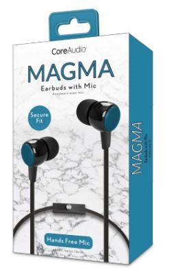 Audífonos con micrófono, perfect fit, azul
