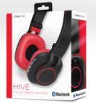 Audífonos inalámbricos que se doblan, rojo