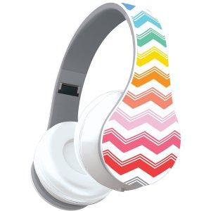 Audífonos con diseño de zig zag de colores