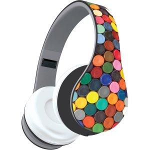 Audífonos con diseño de puntos de colores
