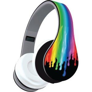 Audífonos con diseño de colores que se derriten