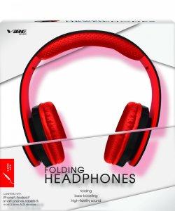 Audífonos que se doblan, rojo