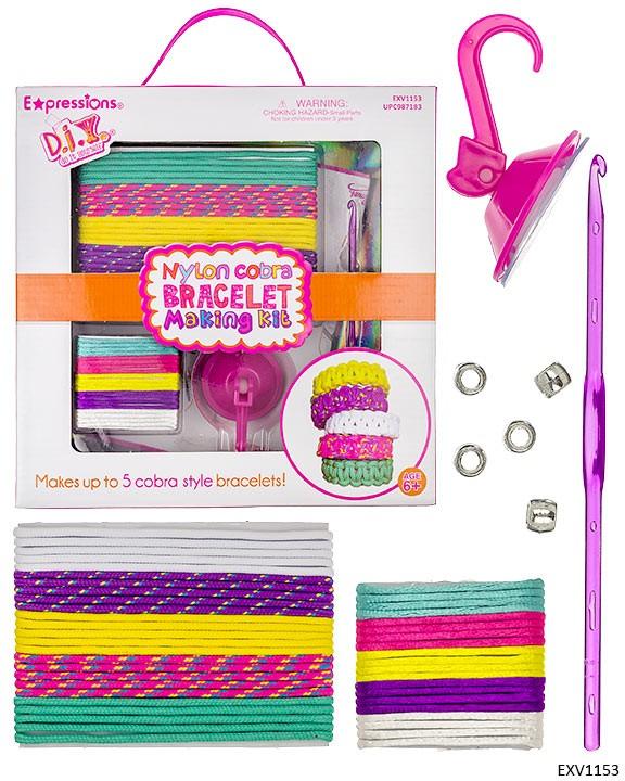 Kit para hacer pulseras de nylon de colores