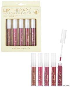 Terapia para labios, brillo hidratante, 5 pzas