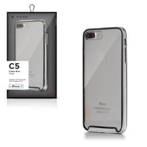 Funda para celular transparente con marco negro, iPhone 7