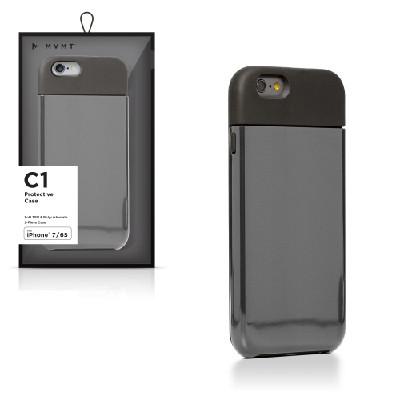 Funda para celular negra con gris, 2 pzas, iPhone 7