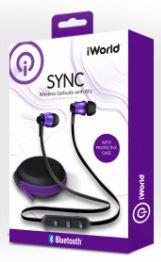Audífonos inalámbricos con mic y case, morado