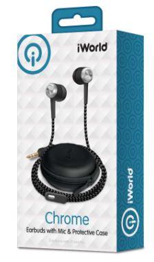 Audífonos con micrófono y case, negro