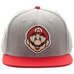 Gorra gris con rojo, Mario Bros