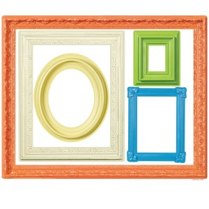 Vinil autoadherible para pared, marcos de colores, 10 pzs