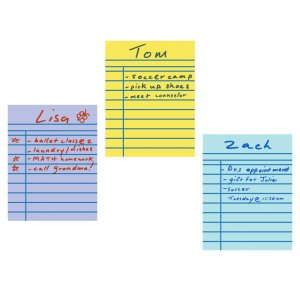 Hoja autoadherible para notas, 3 pzs
