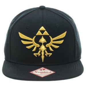 Gorra negra con logo de ZELDA bordado en dorado