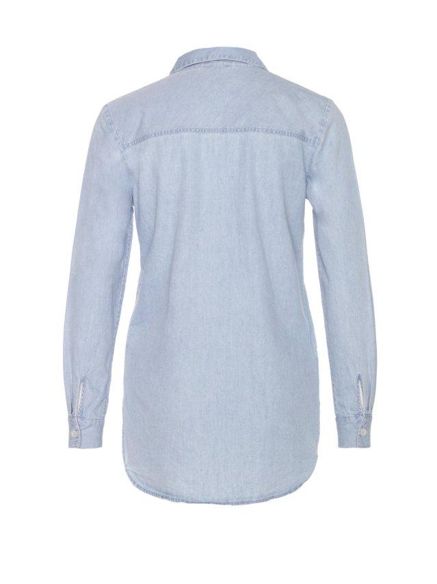 makeyla lace up shirt denim