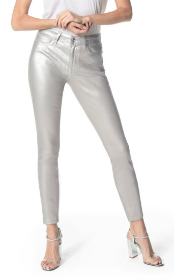 metallic coated silver charlie ankle