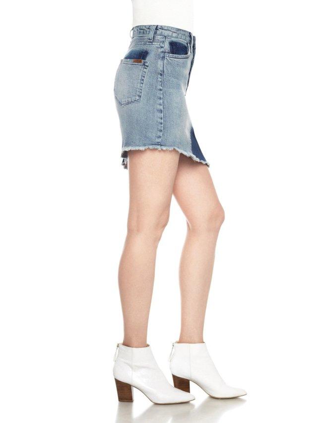 high rise asym skirt kamryn