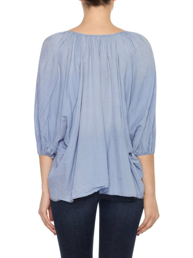 juliette blouse denim gauze