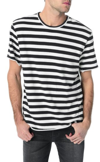 engineered blk wht stripe