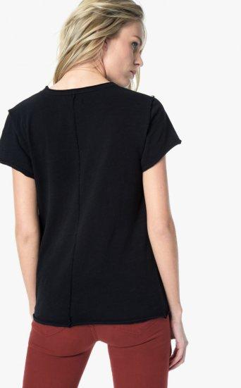 vivian tie front shirt black
