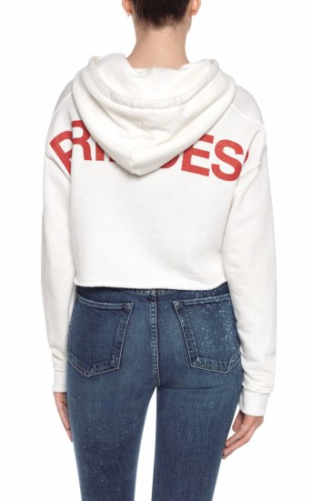 taylor hill x joe's | cropped hoodie white