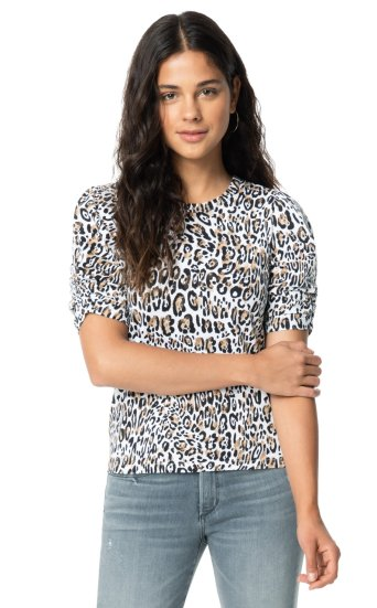 TWISTED LEOPARD PRINT TEE
