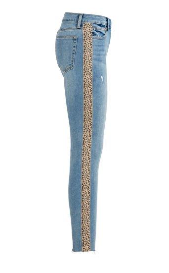 the charlie ankle leopard side stripe