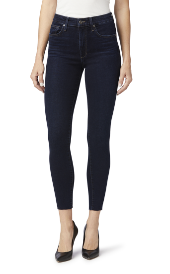 HIGH RISE SKINNY ANKLE W/ CUT HEM