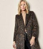 Abrigo entallado leopardo