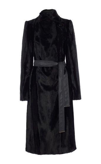 Abrigo largo textura