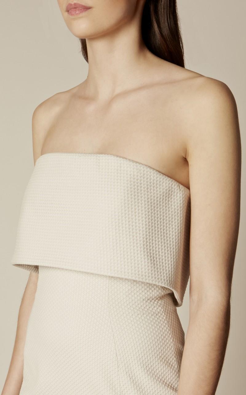 Vestido tubo pliegue texturizado