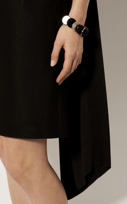 Vestido recto asimétrico