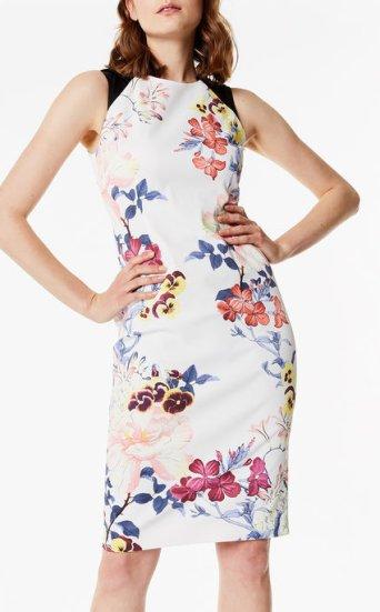 Vestido tubo floral