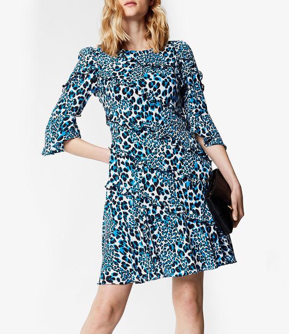 Vestido corto estampado leopardo