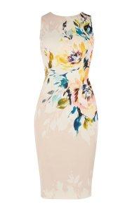 Vestido tubo floral primaveral