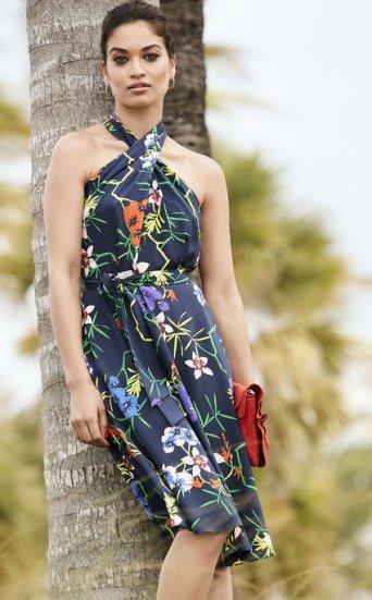 Vestido halter floral
