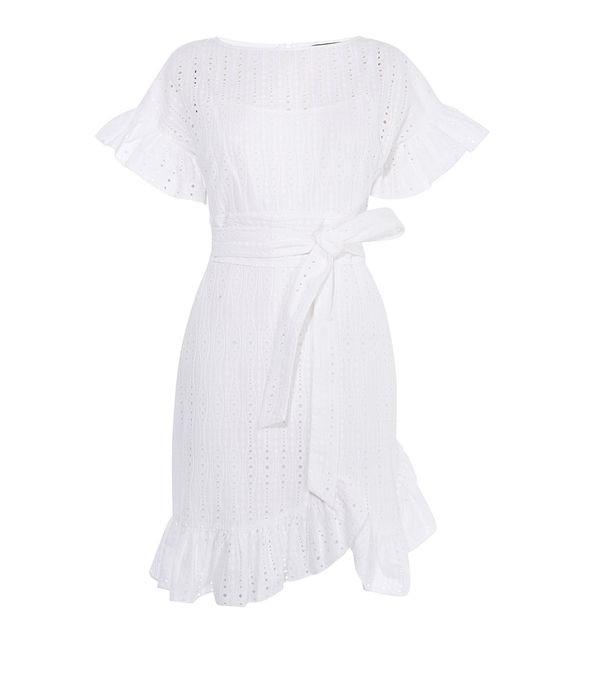 Vestido blanco volantes