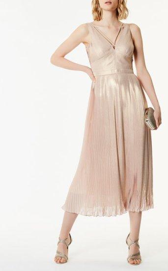 Vestido estampado metalizado