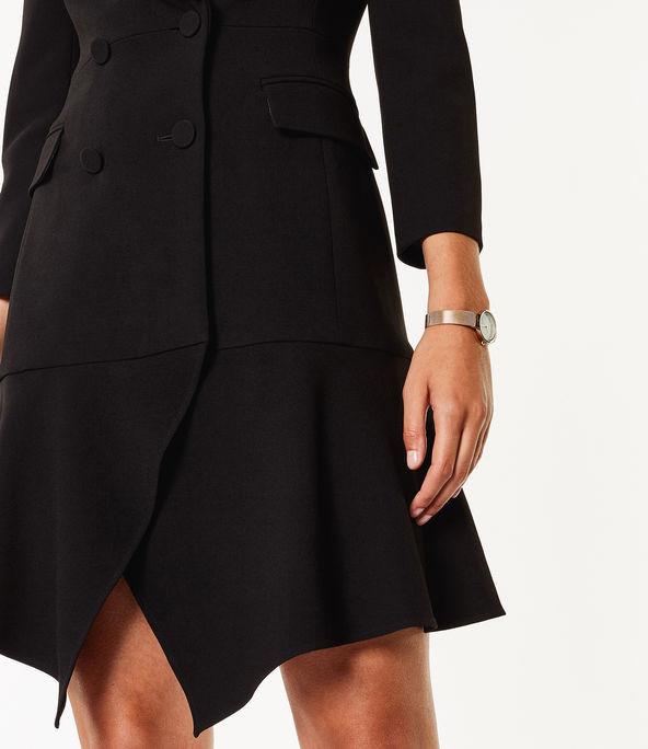 Vestido esmoquin asimétrico