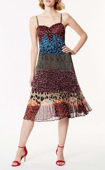 Vestido estampado bloques