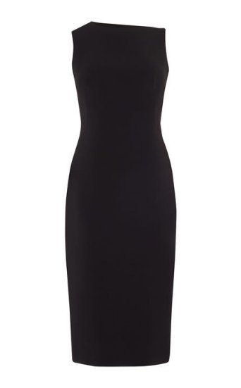 Vestido tubo negro flecos