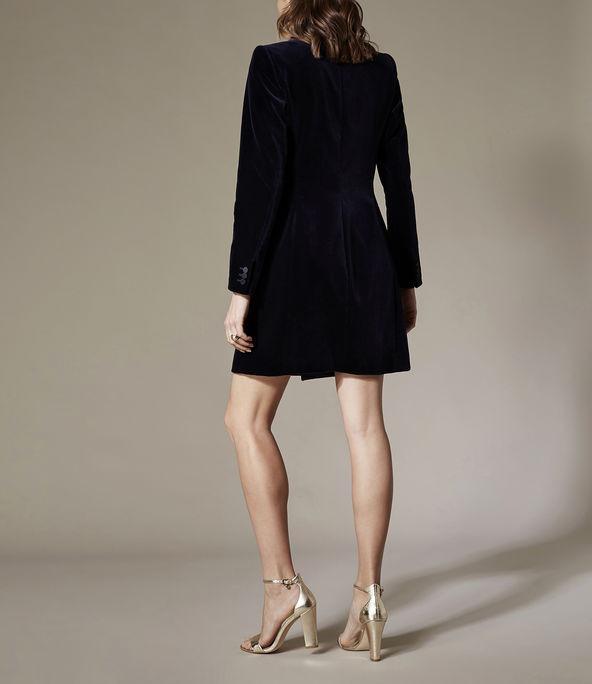 Vestido esmoquin terciopelo