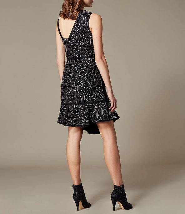 Vestido asimétrico jacquard