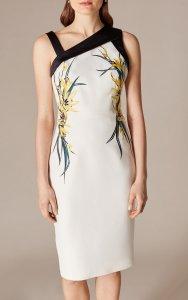 Vestido ajustado floral