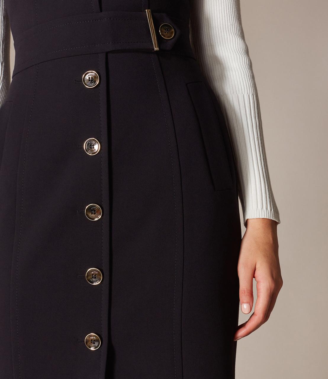 Vestido ajustado botones