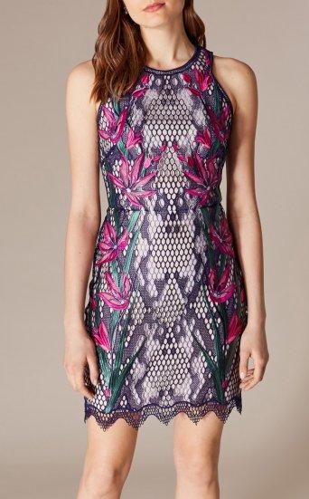 Vestido encaje bordado floral