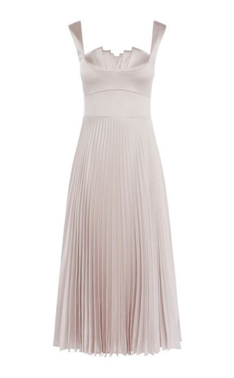 Pleated Satin Dress